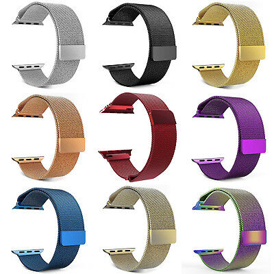 AU15.65 • Buy Luxury Stainless Steel Magnetic Milanese Loop Band Strap For Apple Watch 38/42mm