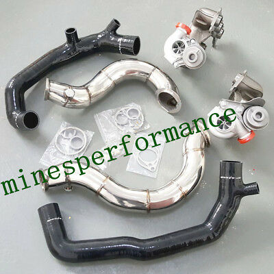 $ CDN1647.26 • Buy For BMW 135i 335i N54 TD04L Billet 6+6 16T Turbo + Inlet Pipe + Catless Downpipe