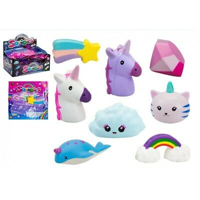 AU9.96 • Buy Squishy Toys - Slow Rising Squeeze Toy Stress Reliever Unicorn Gift X 2