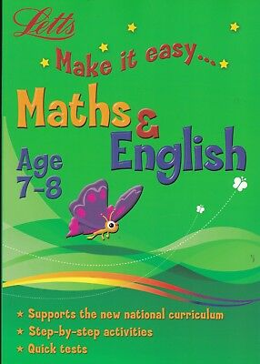 Letts Maths & English Age 7-8 Activity Learning Book Key Stage 2 Year 3 Pb • 6.99£