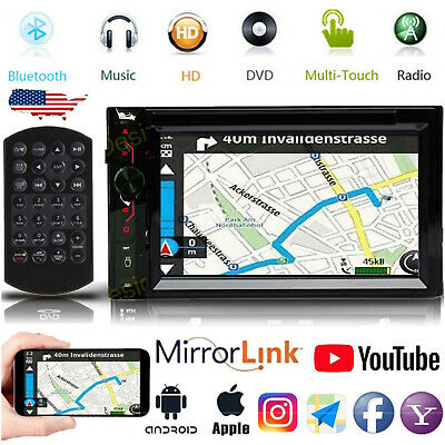 $139.98 • Buy Double 2 Din Car Stereo CD DVD Player Touchscreen Radio Bluetooth AM FM USB AUX