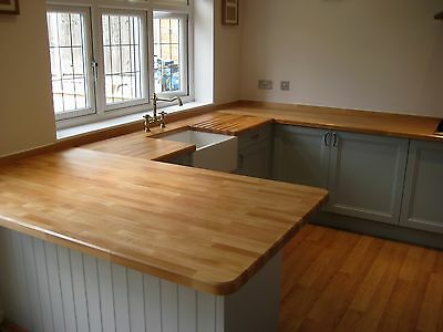 £50 • Buy Prime Solid Beech Worktop, 40mm Staves, All Sizes Available, Real Wood Worktops!