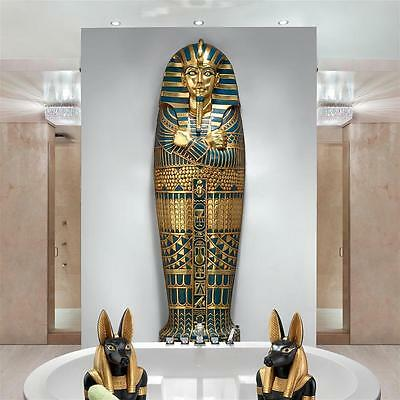 £805.35 • Buy 6' Egyptian Boy King Tut Sarcophagus Tomb Of The Pharaoh Wall Mount Sculpture