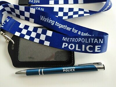 Metropolitan Police Officer Lanyard Id Badge Warrant Card Holder And Free Pen. • 8.50£
