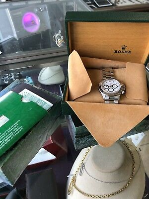 $30000 • Buy Rolex Ref:16520 Daytona White Dial  40mm 1995 B/P Zenith Movement