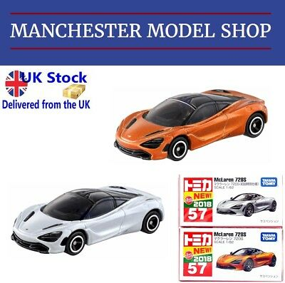 """AU28.65 • Buy Tomica 57 McLaren 720S """"First Edition"""" Silver Grey & Standard """"New 2018"""" SEALED"""