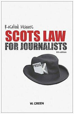 £22.99 • Buy Scots Law For Journalists By Rosalind McInnes Paperback Book The Cheap Fast Free