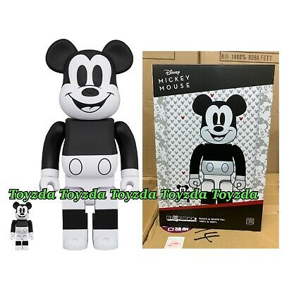 $159.99 • Buy Medicom 2020 Disney Mickey Mouse Black & White 400% 100% B&W Be@rbrick Bearbrick