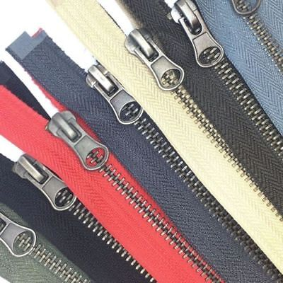 Metal Closed End Zips / 35 Colours And Sizes - GREAT VALUE ON EBAY! • 1.69£