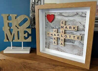 Brick Pastel - Scrabble Personalised Picture Frame • 21.49£