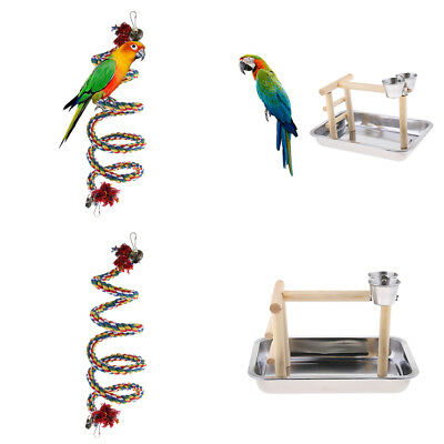 Bird Play Stand Cockatiel Playground Perch Gym With Parrot Swing Toy • 23.31£