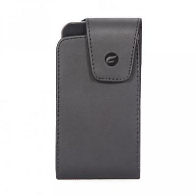 $7.98 • Buy BLACK LEATHER SIDEWAYS PHONE CASE COVER POUCH BELT HOLSTER W SWIVEL CLIP - M37