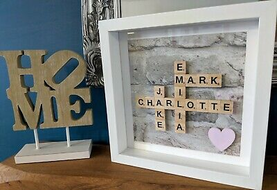Home - Scrabble Personalised Picture Frame • 21.49£