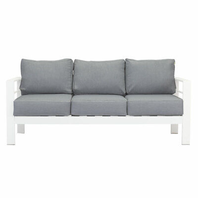 AU489.99 • Buy New White 3 Seater Aluminium Outdoor Sofa Lounge Setting Furniture Arms Chairs