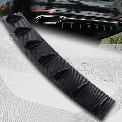 $22.99 • Buy 1 X Carbon Style Rear Lower Bumper Diffuser Fin Spoiler Lip Wing Splitter 34 X6