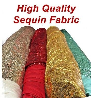 $9.99 • Buy Backdrop Shinny Glitz Sequin Fabric (3mm) Sequin On Poly Mesh 54 -60  Wide, BTY