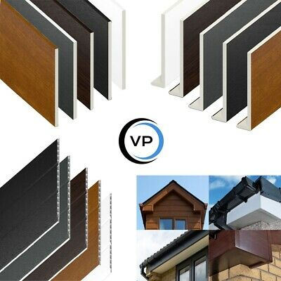 UPVC Fascia Cover Capping Board & Flat Soffit Utility Boards - 9mm X 5m Length • 13.95£