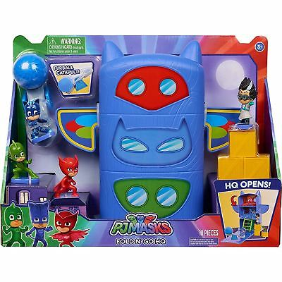 Pj Masks - Fold & Go Headquarters With Figures Playset Kids Toy • 29.25£