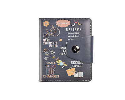 £7.99 • Buy A6 Executive Personal Organiser Ruled Un-Dated Notebook, Slogans,Padded PU Cover