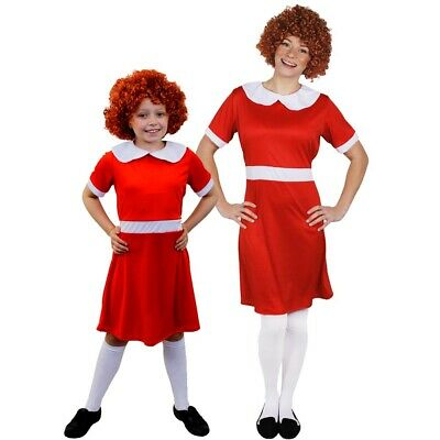 Little Orphan Girl Fancy Dress Costume School Book Week Film Musical Character • 8.99£