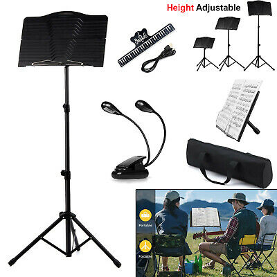 Heavy Duty Metal Foldable Music Stand Holder Tripod Orchestral Conductor Sheet • 13.90£