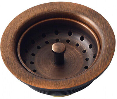 $46.58 • Buy Kitchen Sink Strainer 3.5 In. Antique Copper Drain With Post Styled Basket