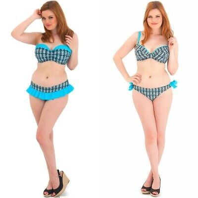 Curvy Kate Cocoloco Bandeau Top, Padded Plunge Top, Skirted Brief Or Tie Brief • 7.95£