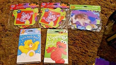 SESAME STREET CARE BEARS DORA  Birthday Party Favors INVITATIONS BANNERS ECT • 11.50£