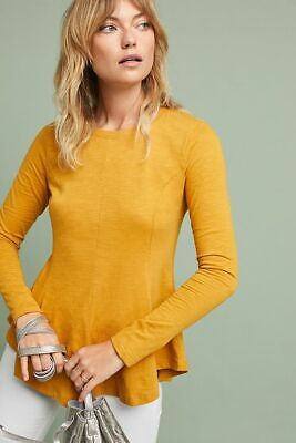 $ CDN63.16 • Buy  Anthropologie FLARED FUNCTION TOP  NWT New Size XL Yellow