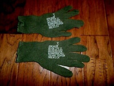 $9.99 • Buy Military Issue D3a Cold Weather Glove Liners 75% Wool 25% Nylon Size 3 Small