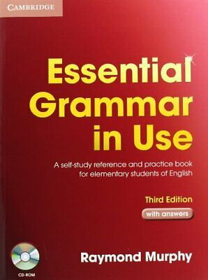£10.55 • Buy Essential Grammar In Use With Answers And CD-ROM Pack By Raymond Murphy, Helen