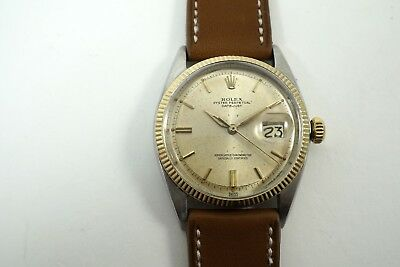 $ CDN4395.07 • Buy Rolex 1601 Early Datejust Stainless Steel & Yellow Gold Original Dates 1961