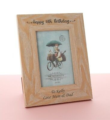 £9.98 • Buy Personalised Engraved Wooden Photo Frame Birthday Gift 18th 21st 30th 40th