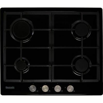 Baumatic BHIG620B Built In 60cm 4 Burners Gas Hob Black • 119£