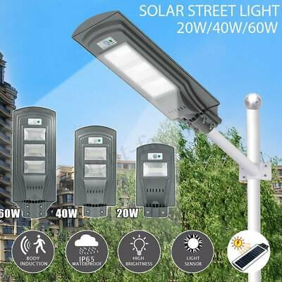 20W/40W/60W LED Solar Street Light IP65 PIR Motion Sensor Wall Lamp Waterproof • 18.99£