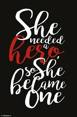 View Details SHE NEEDED A HERO - INSPIRATIONAL POSTER - 22x34 - 17554 • 5.65$