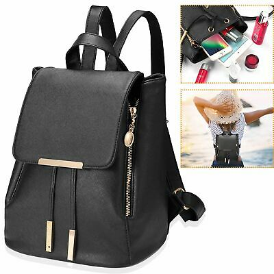 $19.19 • Buy Women Backpack Girls Ladies School Travel Shoulder Bag Leather Rucksack Daypack