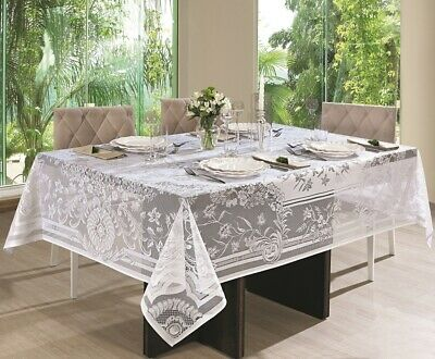 $16.80 • Buy White Lace Rectangle Tablecloth. About 6 People Size 155x200 Cm ≅  60x78 Inches