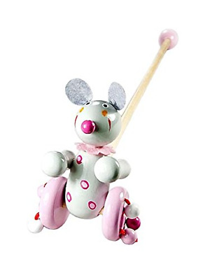 Push Pull Along Toy Mouse For Baby Or Toddler Girl Or Boy • 16.91£