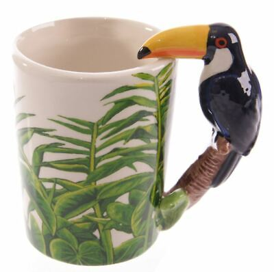 £7.95 • Buy Tropical Toucan 3d Handle Novelty Ceramic Coffee Mug Tea Cup New In Gift Box *