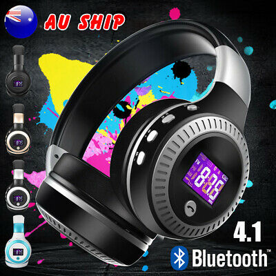 AU32.99 • Buy AU Wireless Bluetooth Headphones With Noise Cancelling Over-Ear Stereo Earphones