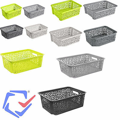 Storage Basket Different Colours And Sizes Portable Three Dimensions • 7.86£