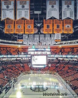Banners At TD Gardens Boston Bruins Color 8 X 10 Photo Picture Free Shipping • 8.45$
