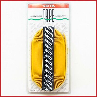 $49 • Buy Vetta Handlebar Bar Tape Ribbon Yellow Leather Vintage Bike Masi Colnago De Rosa