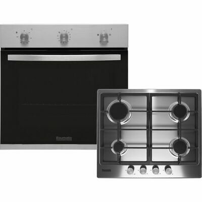 £299 • Buy Baumatic BGPK600X Single Oven & Gas Hob Built In Stainless Steel
