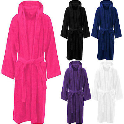 £11.45 • Buy Unisex Hooded Bath Robe Luxury Egyption Cotton Terry Toweling Soft Dressing Gown