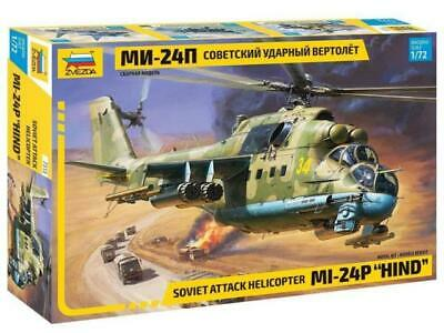 Zvezda 1/72 Scale Russian Soviet Mi24p Hind Attack Helicopter • 19.99£