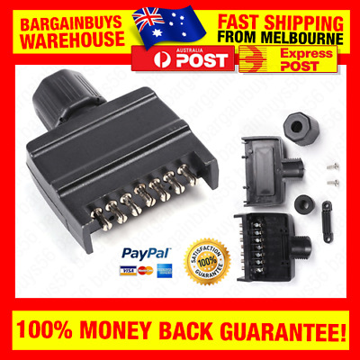 AU11.24 • Buy 7 Pin Flat 12V Trailer Plug Caravan Connector Plug