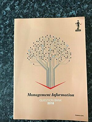 ICAEW Management Information 2018 Question Bank By ICAEW Book The Cheap Fast • 13.99£