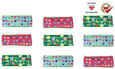 £1.99 • Buy Pencil Case With Zip 20cm Stripes,Dots,Pirates,Football Assorted Design New